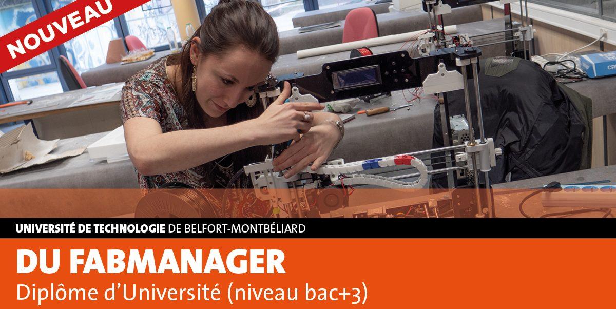 NOUVEAU DIPLÔME UNIVERSITAIRE FAB MANAGER