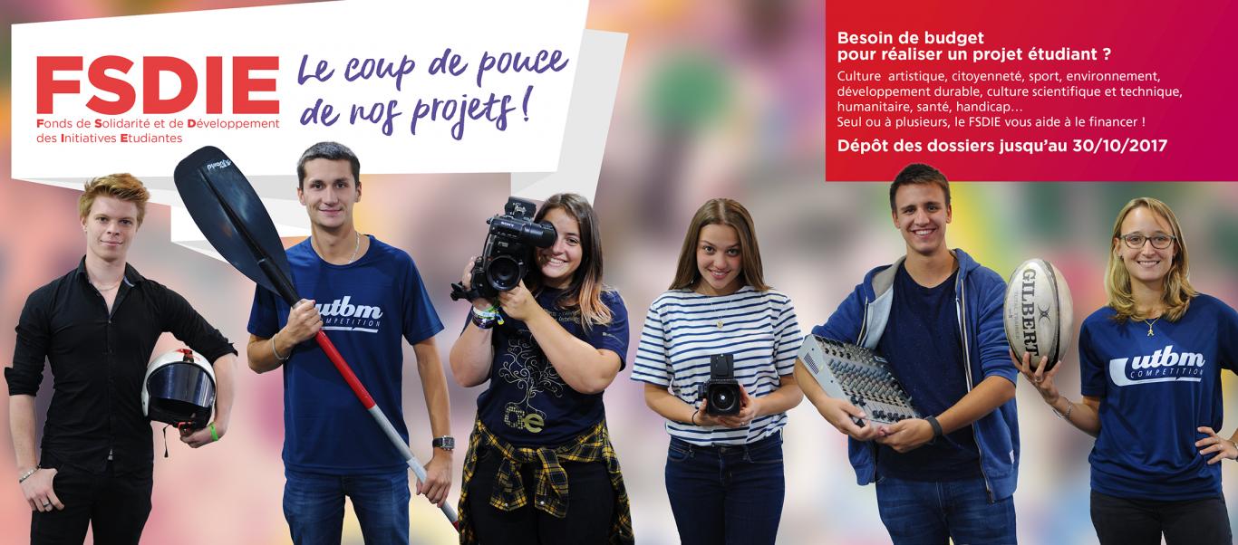 Le FSDIE aide les étudiants UTBM à financer leurs projets.