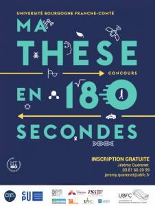 """Finale régionale de """"Ma thèse en 180s"""" @ Grand Kursaal à Besançon"""