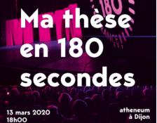 Finale régionale de « Ma thèse en 180 secondes »