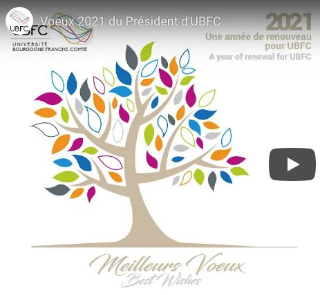 Dominique Grevey, Président de l'UBFC, vous adresse ses voeux