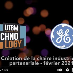Création d'une chaire industrielle entre l'UTBM et General Electric